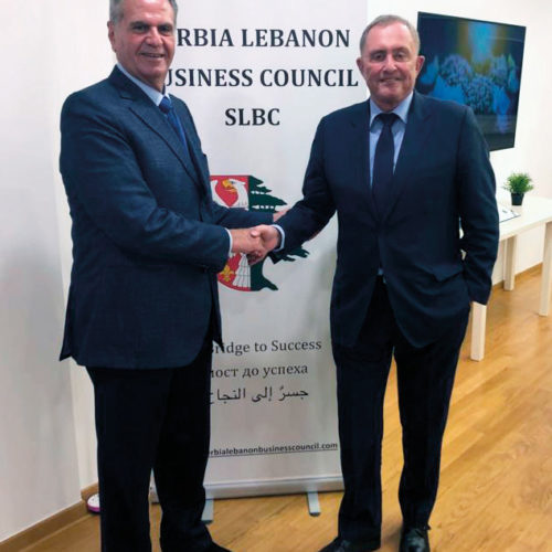 Brent Sadler, Chairman of the Serbia Lebanon Business Council with Jacques Sarraf, President of the Investors Union of Lebanon - Belgrade, December 2018