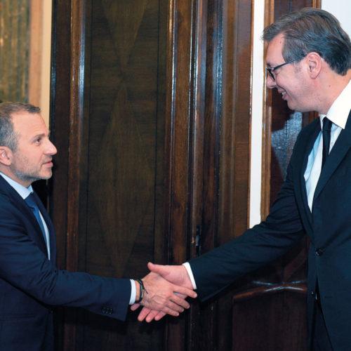 H.E. Gebran Bassil and Aleksandar Vučić, President of Serbia – Belgrade, December 2018