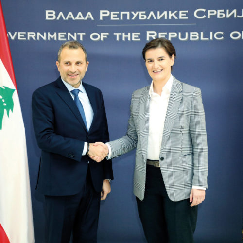 H.E. Gebran Bassil and Ana Brnabić, Prime Minister of Serbia - Belgrade, December 2018