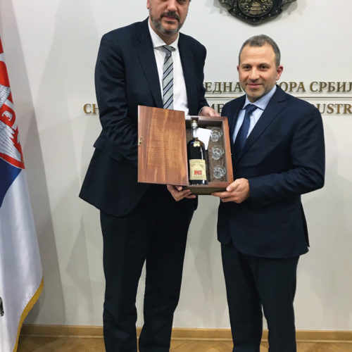 H.E. Gebran Bassil and Marko Čadež, President of the Serbian Chamber of Commerce - Belgrade, December 2018