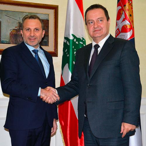 H.E. Gebran Bassil and Serbian Foreign Minister Ivica Dačić - Belgrade, December 2018