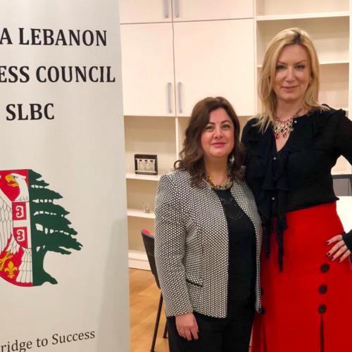 Lebanese Ambassador to Serbia H.E. Ms. Nada Al Akl and Jelena Sadler